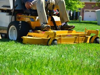 Rasenmähen , Grünflächenpflege