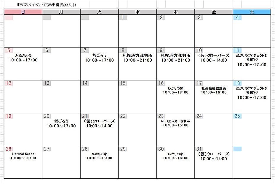 イベント広場申請状況H31.5月.jpg