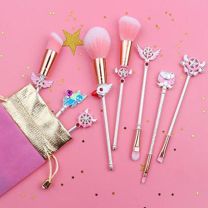 White Cardcaptor Sakura /Sailor Moon Makeup Brushes Set