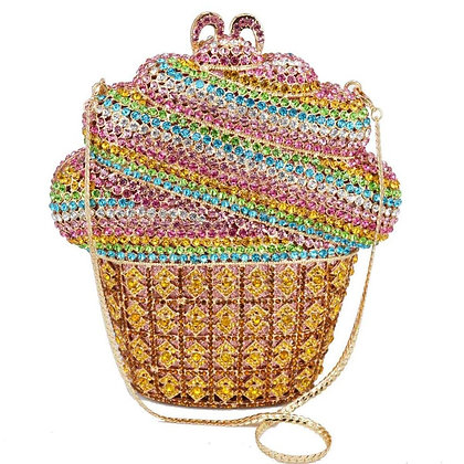 Rainbox Cupcake Crystal Bag