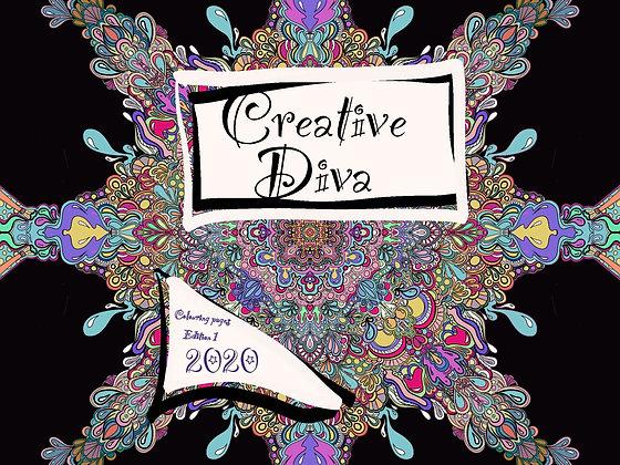 Creative Diva Digital Colouring Book