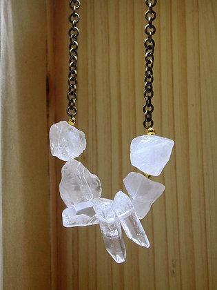 Crystal Quartz Nugget Point Necklace