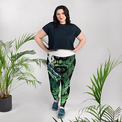Wazowski Print Plus Size Leggings