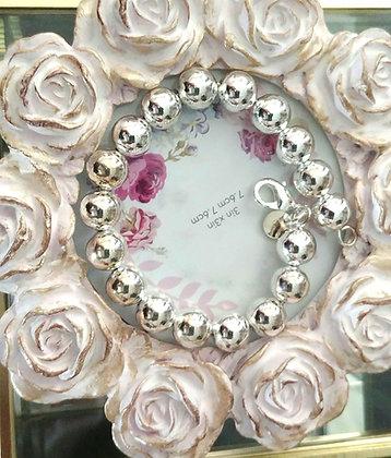 Silver Plated Medium Beaded Bracelet