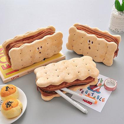 Cookie Sandwich Soft Plush Pencil Case