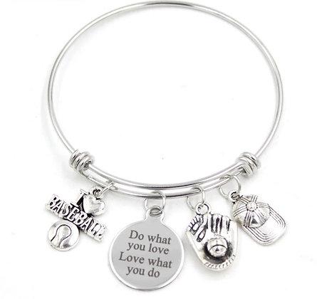 Love Baseball Charm Bracelet