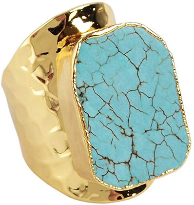 Howlite Gold Ring