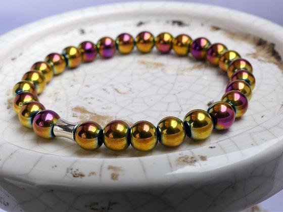 Mermaid Sunshine Hematite Bracelet