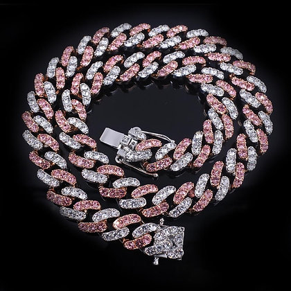 Pink and White 12mm chain