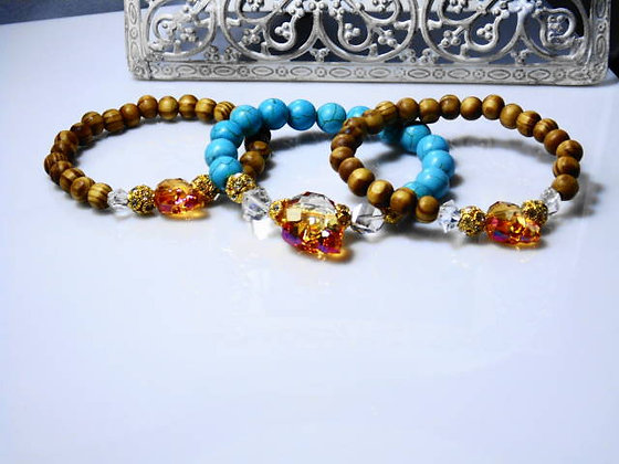 Stack in Skulls Bracelet Set