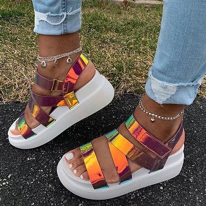 Irridescent Chunky Sandal