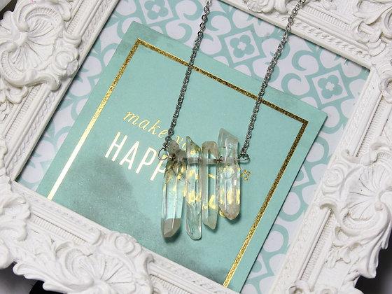 Crystal Quartz Cluster Necklace