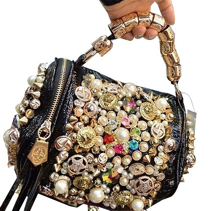Luxury Golden Arm Round Bag