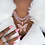 Thumbnail: 2Cuban Link Chain Two Tone  With White &Pink  Choker