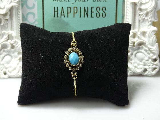 Vintage Turquoise Slider Bracelet