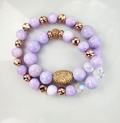 Jade Rose Gold Champagne Wrap Bracelet