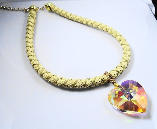 Heart on a Rope Necklace