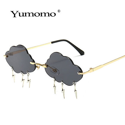 Fashion Lightning Cloud Frameless Sunglasses