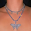 Thumbnail: Butterfly  Tennis Necklace