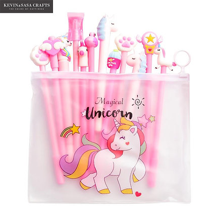 10Pcs/Set Gel Pen Unicorn Pen Set