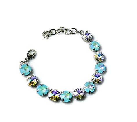 Swarovski Ultra Blue Crystal AB Rivoli Bracelet