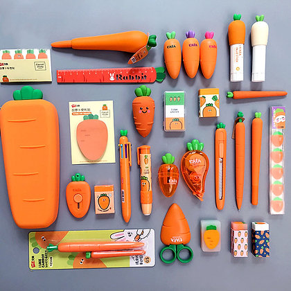 Creative Carrot Series Silicone Stationary