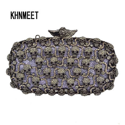 Skulls Crystal Clutch
