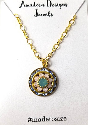 Antique Golden Flower Necklace