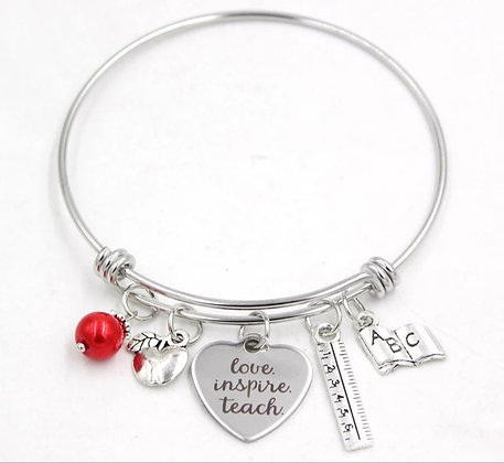 Teacher Love charm Bracelet