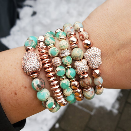 Jasper Rose Gold Stack
