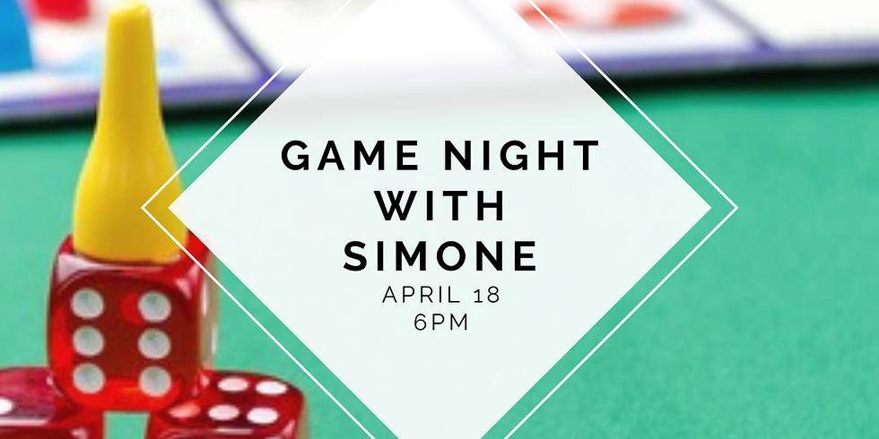 NSMH Game Night with Simone