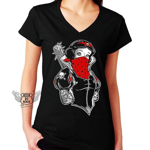 T-shirt Bad Princess Branca De Neve