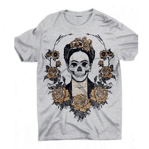 Camiseta Frida Kahlo Skull