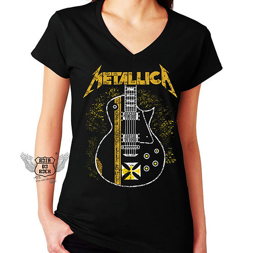Baby look Metallica Guitarra