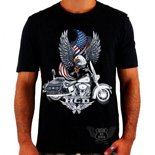 Camiseta Harley Davidson Flag