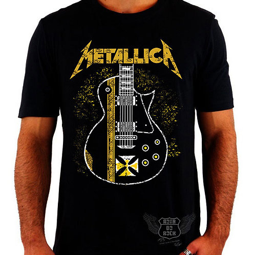 Camiseta Metallica Guitarra