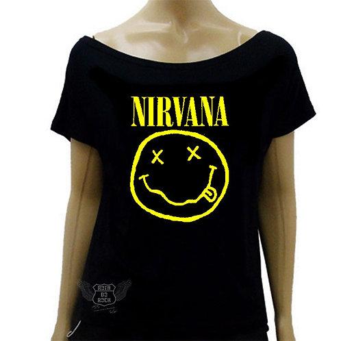 Blusinha de Ombro Caído Nirvana