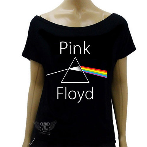 Blusinha de Ombro Caído Pink Floyd The Dark Side Of The Moon