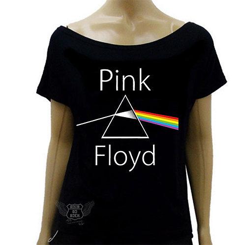 Blusinha de Ombro Caído Pink Floyd The Dark Side Of The Moon