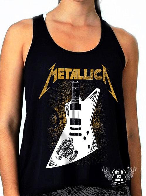 Regata Feminina Metallica Guitarra Papa Het
