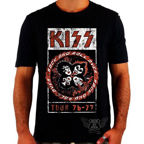 Camiseta Kiss Tour 76-77