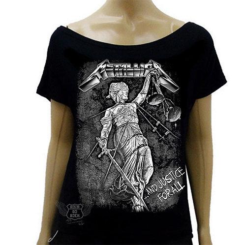 Blusinha de Ombro Caído Metallica Justice For All
