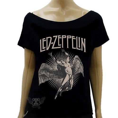 Blusinha de Ombro Caído Led Zeppelin Anjo