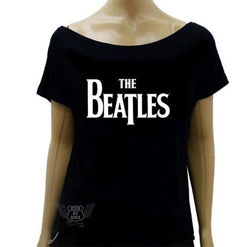 Blusinha Ombro Caído The Beatles Logo