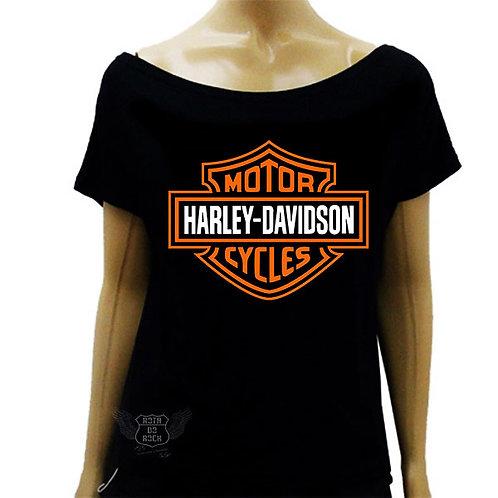 Blusinha de Ombro Caído Motociclismo - Harley