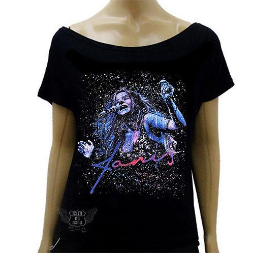 Blusinha de Ombro Caído Janis Joplin