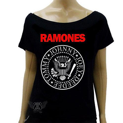 Blusinha de Ombro Caído Ramones