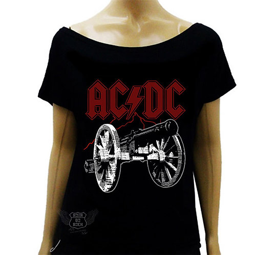 Blusinha Ombro Caído ACDC For Those About Rock