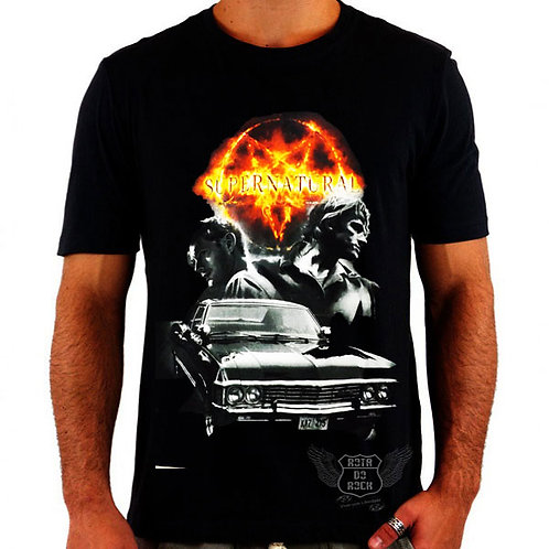 Camiseta Supernatural Pentagrama