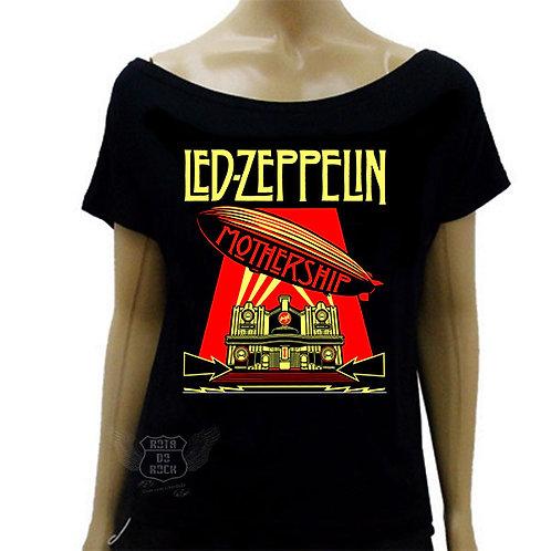 Blusinha de Ombro Caído Led Zeppelin Mothership